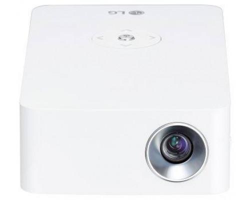Проектор LG PH30JG (DLP, LED, 720p 1280x720, 250Lm, 100000:1, HDMI, MHL, USB, USB Type-C, 1x1W speaker, WiFi, Bluetooth, 3D Ready, led 30000hrs, battery, WHITE, 0.49kg)