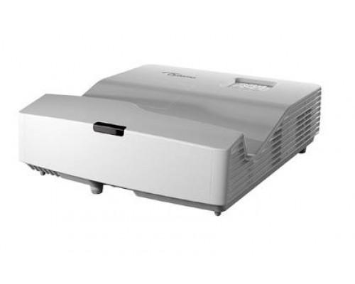 Проектор Optoma EH330UST (DLP, 1080p 1920x1080, 3600Lm, 20000:1, 2xHDMI, MHL, USB, LAN, 1x16W speaker, 3D Ready, lamp 15000hrs, ultra short-throw, White, 3.90kg)