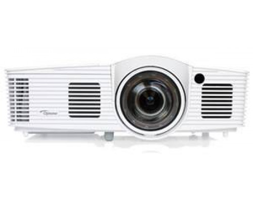 Проектор Optoma GT1070Xe (DLP, 1080p 1920x1080, 2800Lm, 23000:1, 2xHDMI, MHL, 1x10W speaker, 3D Ready, lamp 6500hrs, short-throw, WHITE, 2.65kg)