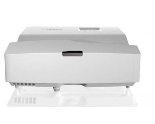 Проектор Optoma HD31UST (DLP, 1080p 1920x1080, 3400Lm, 28000:1, 2xHDMI, MHL, USB, LAN, 1x16W speaker, 3D Ready, lamp 15000hrs, ultra short-throw, White, 3.90kg)