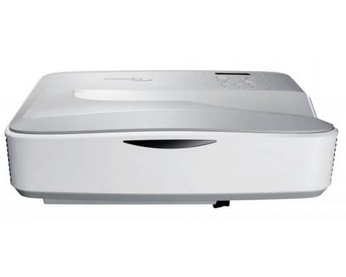 Проектор Optoma HZ40UST (DLP, Laser, 1080p 1920x1080, 4000Lm, 2500000:1, 2xHDMI, USB, LAN, 1x10W speaker, 3D Ready, laser diode 20000hrs, ultra short-throw, White, 5.60kg)