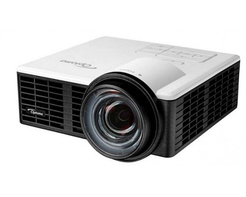 Проектор Optoma ML1050ST (DLP, LED, WXGA 1280x800, 1000Lm, 20000:1, HDMI, MHL, USB, MicroSD, Universal I/O, 1x1W speaker, 3D Ready, led 20000hrs, short-throw, White-Black, 0.42kg)