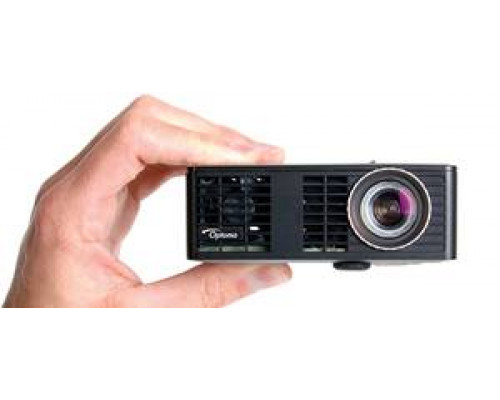 Проектор Optoma ML750e (DLP, LED, WXGA 1280x800, 700Lm, 15000:1, HDMI, USB, MHL, MicroSD, 1x1W speaker, 3D Ready, led 20000hrs, Black, 0.38kg)