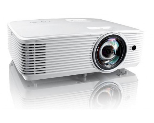 Проектор Optoma X318STe (DLP, XGA 1024x768, 3700Lm, 22000:1, 2xHDMI, MHL, LAN, 1x10W speaker, 3D Ready, lamp 15000hrs, short-throw, White, 3.00kg)