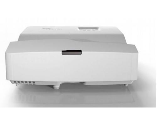 Проектор Optoma X330UST (DLP, XGA 1024x768, 3600Lm, 20000:1, 2xHDMI, MHL, USB, LAN, 1x16W speaker, 3D Ready, lamp 15000hrs, ultra short-throw, White, 3.90kg)