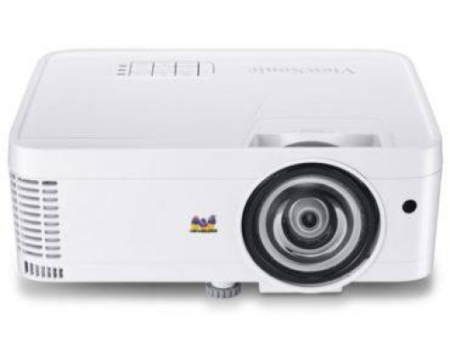 Проектор ViewSonic PS501X (DLP, XGA 1024x768, 3500Lm, 22000:1, HDMI, 1x2W speaker, 3D Ready, lamp 15000hrs, short-throw, White, 2.6kg)