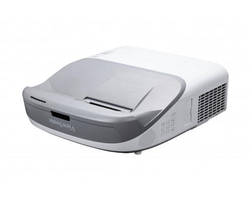 Проектор ViewSonic PS700X (DLP, XGA 1024x768, 3300Lm, 10000:1, HDMI, MHL, LAN, 2x10W speaker, 3D Ready, lamp 6000hrs, ultra short-throw, White, 6.1kg)
