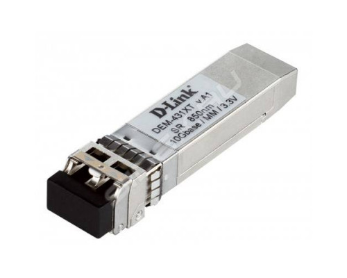 D-link 431XT/A1A-трансивер, IEEE-802.3ae, 10GBASE-SR,10 Гбит/сб, Многомодовый, до 300 м