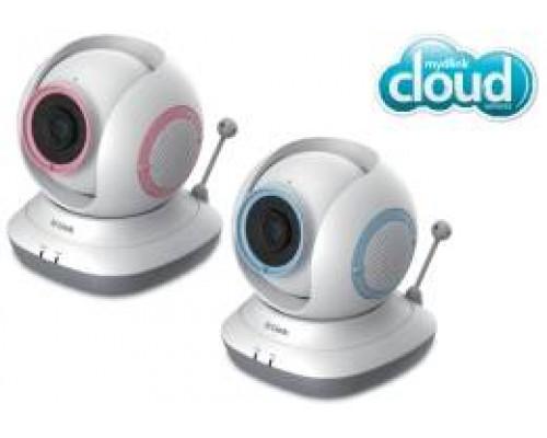D-Link DCS-855L 1 Мп беспроводная облачная сетевая HD-камера для наблюдения за ребенком, день/ночь, с ИК-подсветкой до 5 м, приводом наклона/поворота и слотом для карты microSD