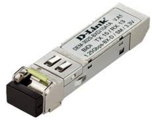 D-Link DEM-302S-BXD 10 штук WDM SFP-трансивер с 1 портом 1000Base-BX-D (Tx:1550 нм, Rx:1310 нм) для одномодового оптического кабеля (до 2 км)