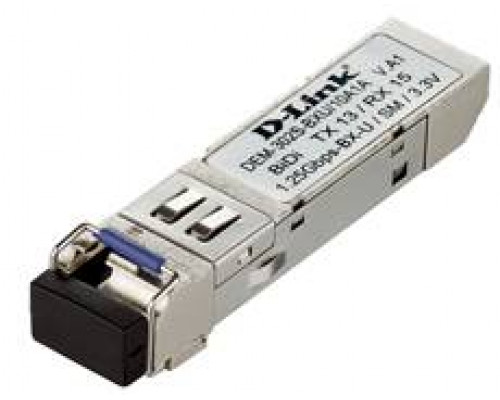 D-Link DEM-302S-BXU WDM SFP-трансивер с 1 портом 1000Base-BX-U (Tx:1310 нм, Rx:1550 нм) для одномодового оптического кабеля (до 2 км)
