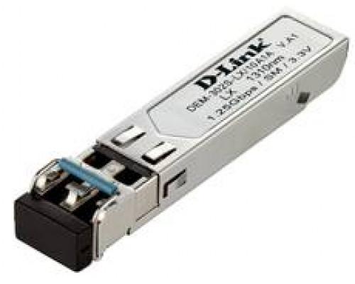 D-Link DEM-302S-LX SFP-трансивер с 1 портом 1000Base-LX для одномодового оптического кабеля (до 2 км)