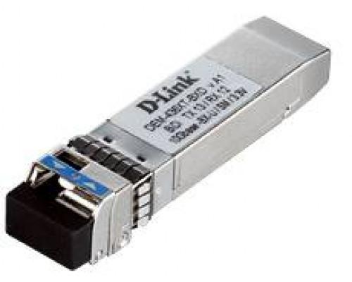 D-Link DEM-436XT-BXD WDM SFP-трансивер с 1 портом 10GBase-LR (Tx: 1330 нм, Rx: 1270 нм)для одномодового оптического кабеля (до 20 км)