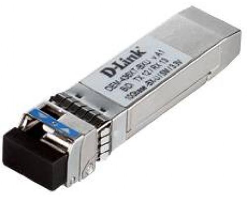 D-Link DEM-436XT-BXU WDM SFP-трансивер с 1 портом 10GBase-LR (Tx: 1270 нм, Rx: 1330 нм) для одномодового оптического кабеля (до 20 км)