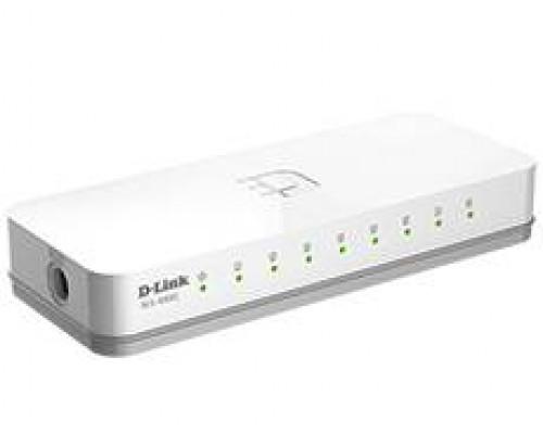 D-Link DES-1008C Неуправляемый коммутатор с 8 портами 10/100Base-TX и функцией энергосбережения