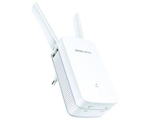 Mercusys MW300RE, N300 Усилитель Wi-Fi сигнала, подключение к настенной розетке,  до 300 Мбит/с на 2,4 ГГц, поддержка стандартов 802.11b/g/n, кнопка Reset, кнопка WPS, 2 внешние антенны