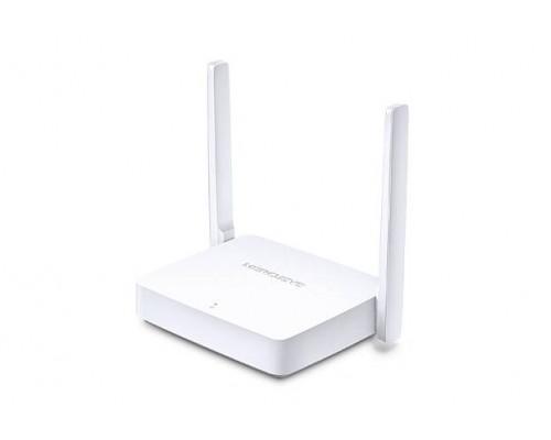 Mercusys MW301R Беспроводной маршрутизатор (300 Мбит/сек LAN 2*10/100), 2 фиксированные антенны