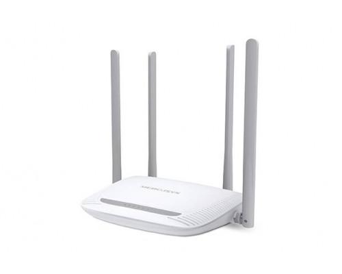 Mercusys MW325R, N300 Улучшенный Wi-Fi роутер, чипсет Qualcomm, 2T2R, до 300 Мбит/с на 2,4 ГГц, 802.11b/g/n, 1 порт WAN 10/100 Мбит/с  + 4 порта LAN 10/100 Мбит/с, 4 фиксированные антенны, поддержка L2TP Россия/PPTP Россия/PPPoE Россия, IGMP Snooping/Prox