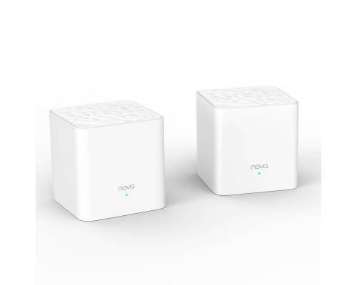 Tenda nova MW3(2-pack) АС1200 Двухдиапазонная Wi-Fi Mesh система, 2 порта fast ethernet RJ45