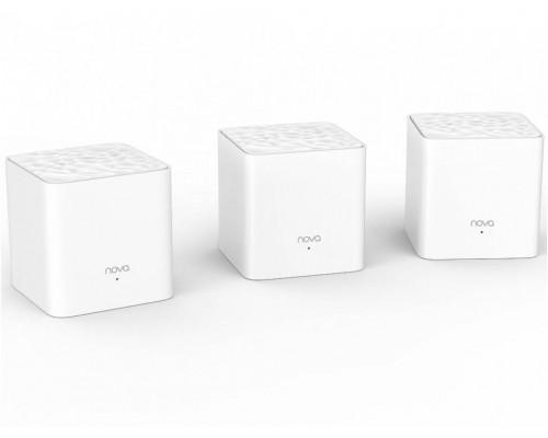 Tenda nova MW3 (3 роутера) АС1200 Двухдиапазонная Wi-Fi Mesh система, 2 порта fast ethernet RJ45
