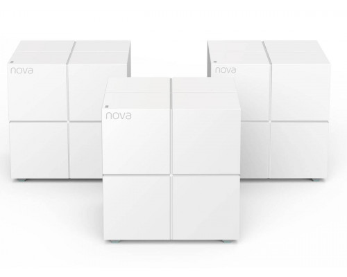 Tenda nova MW6 ( 3 роутера) АС1200 Двухдиапазонная Wi-Fi Mesh система, 2 порта gigabit ethernet RJ45