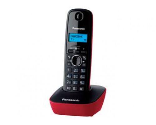Р/телефон Panasonic KX-TG1611RUR (черный/красный)
