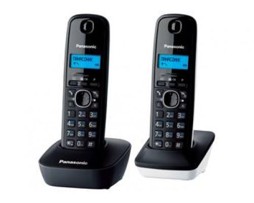 Р/телефон Panasonic KX-TG1612RU1 (серый/белый/черный, 2 трубки)