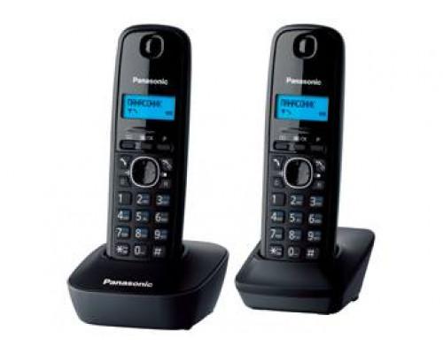 Р/телефон Panasonic KX-TG1612RUH (серый/черный, 2 трубки)