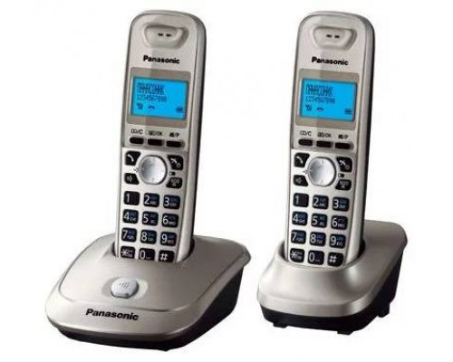 Р/телефон Panasonic KX-TG2512RUN (платиновый, 2 трубки)
