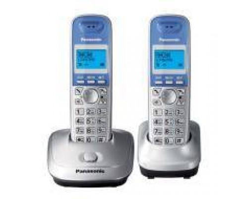 Р/телефон Panasonic KX-TG2512RUS (серебристый, 2 трубки)