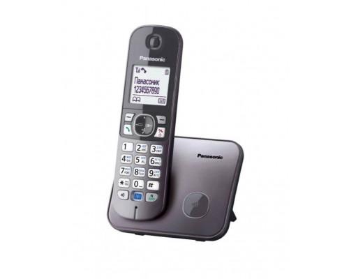 Р/телефон Panasonic KX-TG6811RUM (серый металлик)