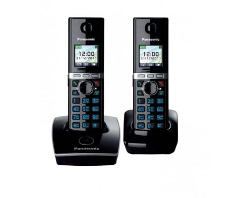 Р/телефон Panasonic KX-TG8052RUB (черный, 2 трубки)