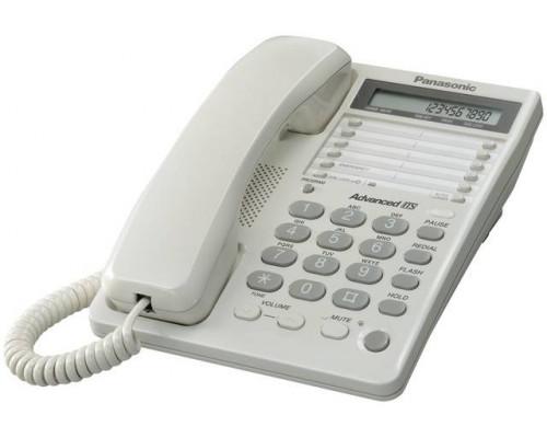 Телефон Panasonic KX-TS2362RUW (30 ст., дисплей, часы, гнездо для гарнитуры, ламп