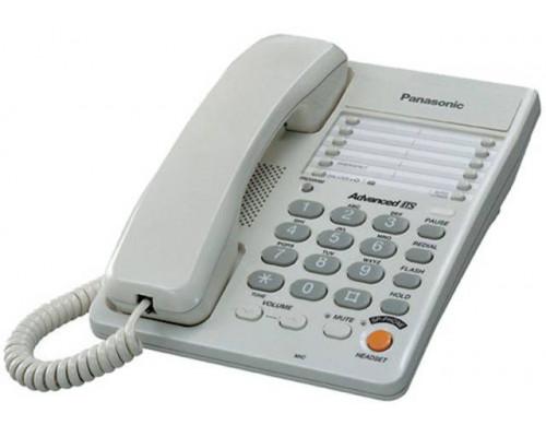 Телефон Panasonic KX-TS2363RUW (30 ст., спикерфон, автодозвон, гнездо для гарниту